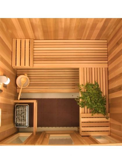 "Harvia Prefabricated Sauna Room (48"" x 72"" x 84"")"