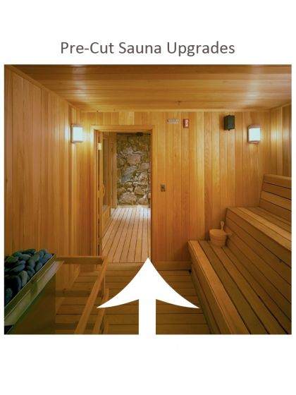 Scandia Pre-Cut Sauna Upgrades