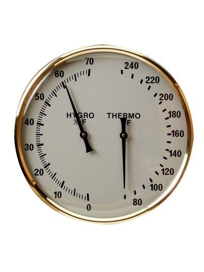 Harvia Gold Rimmed Thermometer/Hygrometer