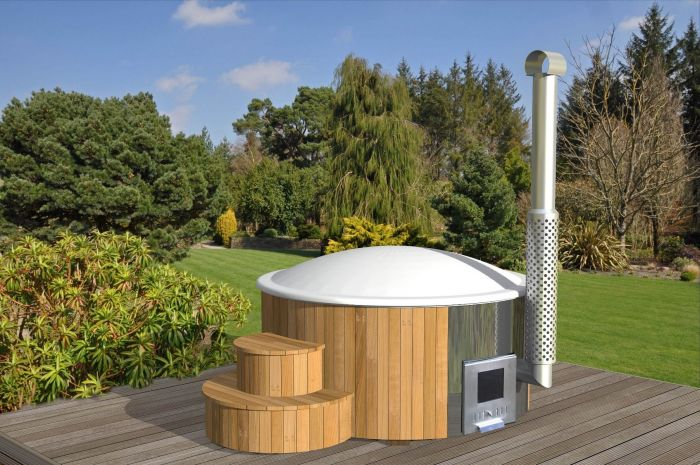 Luxwel 200cm Delux Thermo-Spruce Hot Tub1